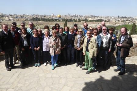 Gruppenbild in Jerusalem web